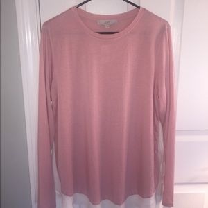 Loft top pink with white underneath